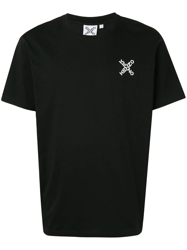 Kenzo T-shirt In Black Featuring Contrasting Logo