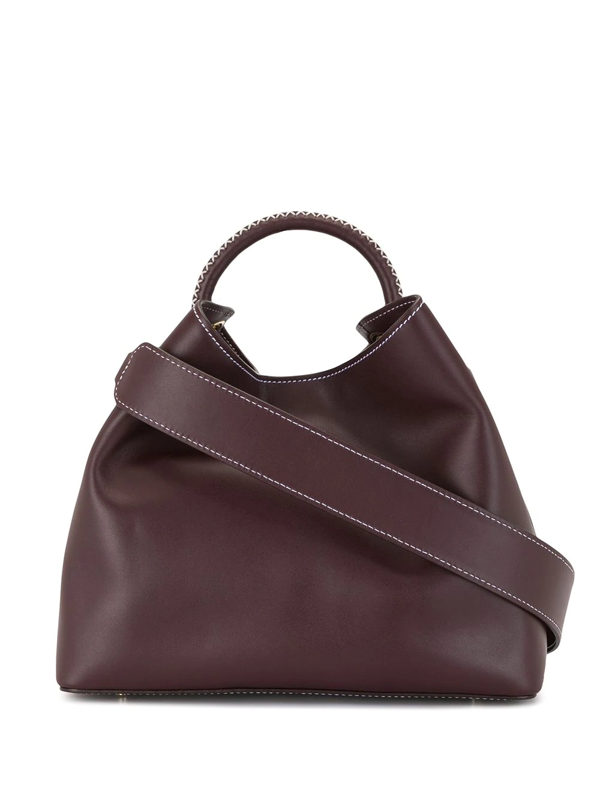 Elleme Raisin Leather Shoulder Bag In Purple