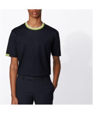 Hugo Boss Boss Men's Tiburt Stretch Cotton T-shirt In Dark Blue
