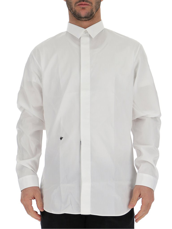 Dior Long-sleeved Shirt In White