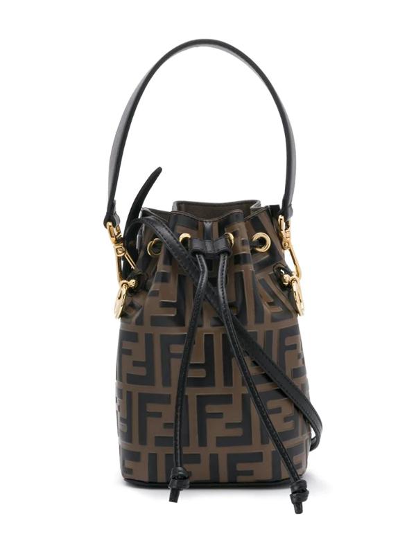 Fendi Kids' Zucca-print Tote Bag In Black