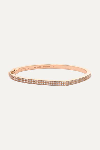 Repossi 18kt Rose Gold Antifer Pave Diamond Row Bracelet