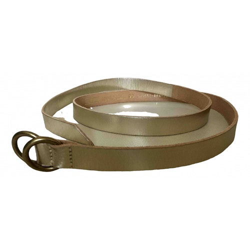 Pre-owned Closed Gold Leather Belt