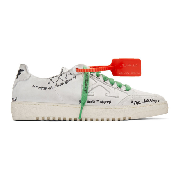 Off-white 2.0 Screen-printed Leather Trainers In White
