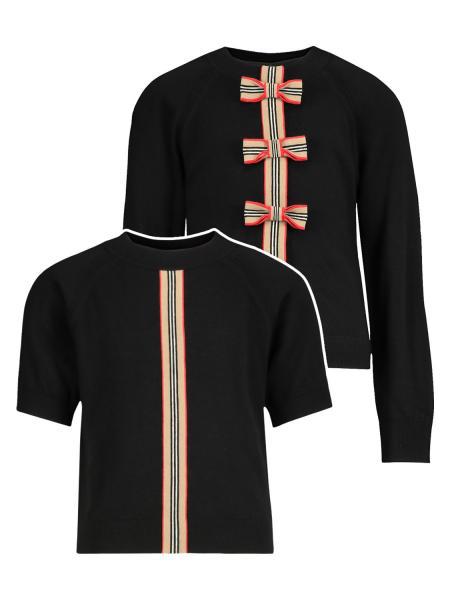 Burberry Kids Clothing Set For Girls In Black
