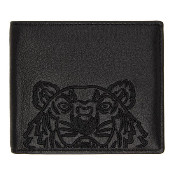Kenzo 'kampus' Tiger Wallet In 99 - Black