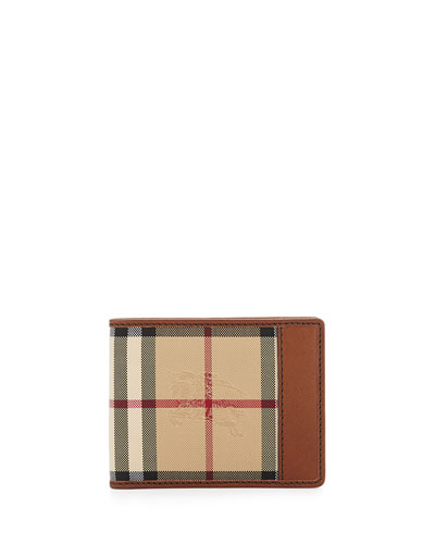 Burberry Horseferry Check Hipfold Wallet In Plaid Multi