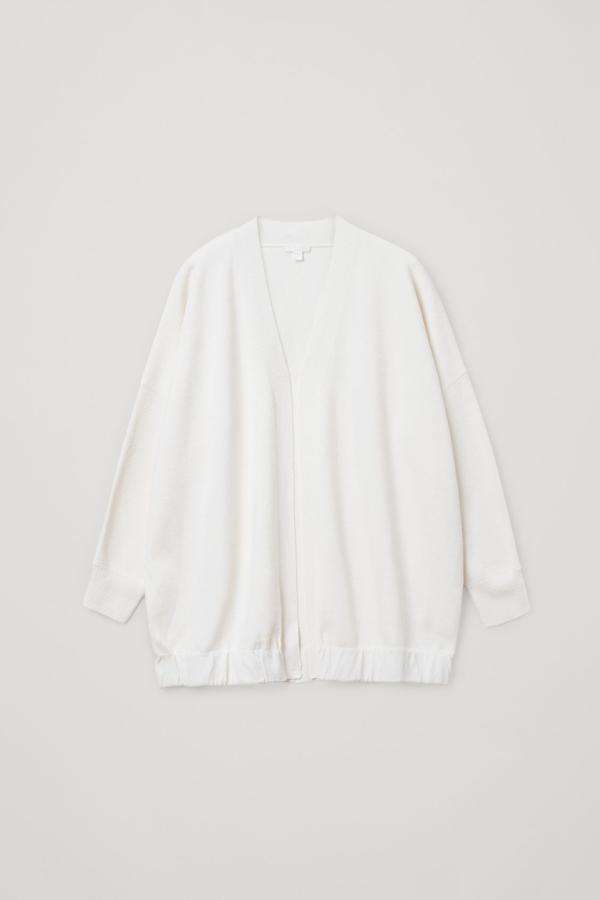 Cos Cotton-silk Mix Oversized Cardigan In Beige