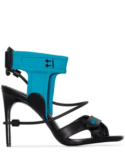 Off-white Touch Strap Sandals In Black