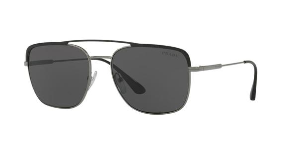 Prada Sunglasses, Pr 53vs 59 In Grey-black