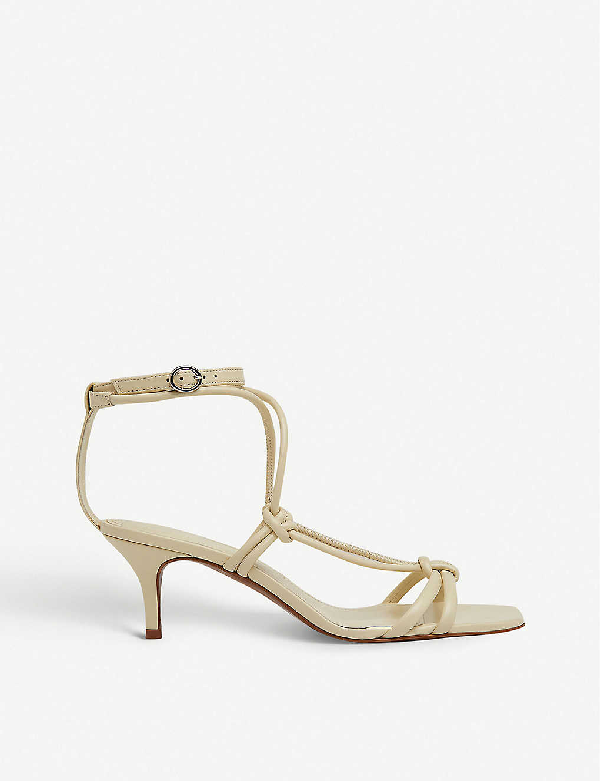Whistles Emely Heeled Leather Sandals In White