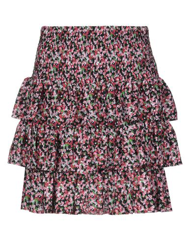 Michael Michael Kors Tiered Floral-jacquard Mini Skirt In Black