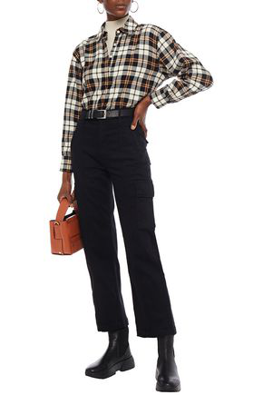 Mother High-rise Straight-leg Jeans In Black