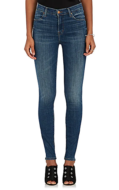 J Brand Maria High-Waist Skinny Jeans, Activate In Lt. Blue