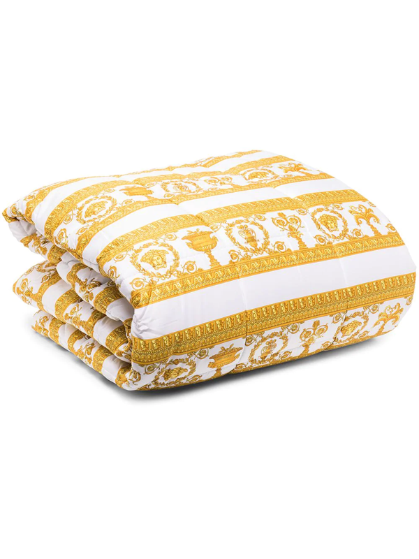 Versace Barocco-print Padded Blanket In White