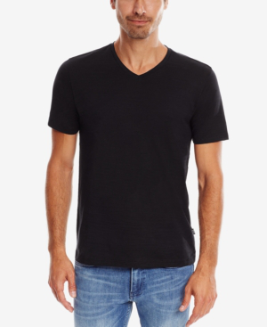 Hugo Boss Dandre V-neck Short-sleeve Tee In Black