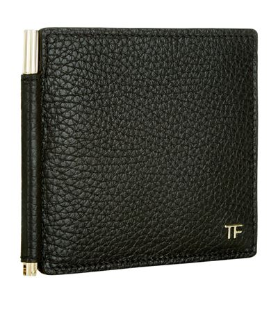 Tom Ford Grained Leather Billfold Wallet In Black