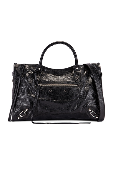 Balenciaga Classic City Leather Bag In Black