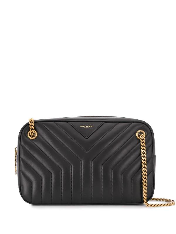 Saint Laurent Camera Bag Joan Black Leather Shoulder Bag