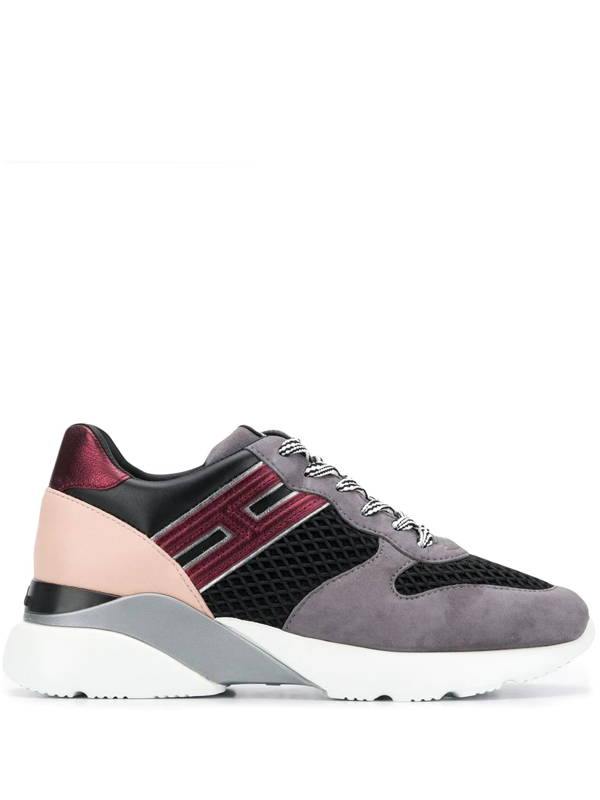 Hogan Active One Mesh Inserts Sneakers In Grey