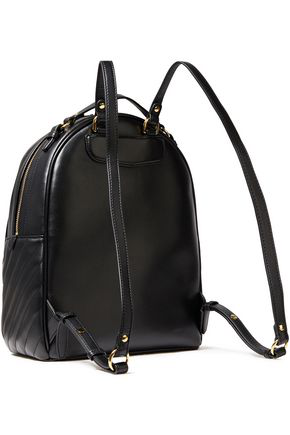 Tory Burch Kira Quilted Leather Backpack In Black