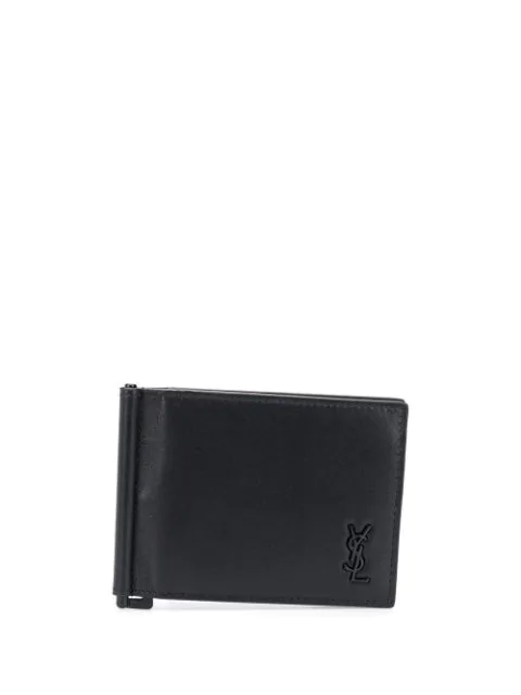 Saint Laurent Money Clip Bi-fold Cardholder In Black