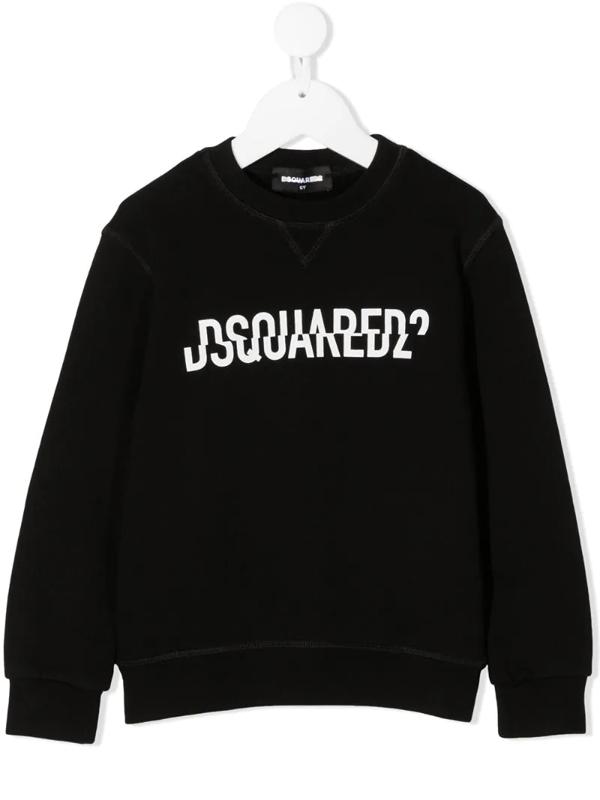 Dsquared2 Kids' Black Sweatshirt With Frontal Logo