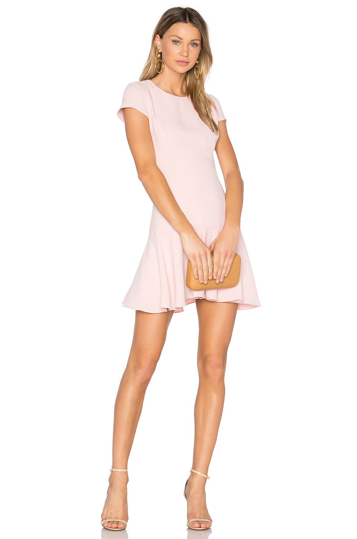 Amanda Uprichard Hudson Dress In Dusty Rose Modesens