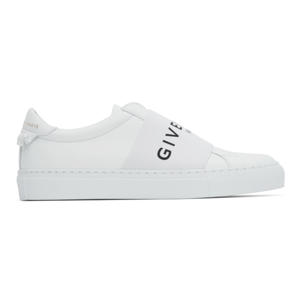 Givenchy White Urban Street Elastic Sneakers In 100 White