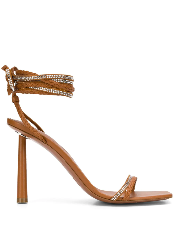 Fenty Braid Me Up Sandals 105mm In Brown