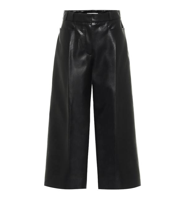 Stella Mccartney Charlotte Faux Leather Culottes In Black