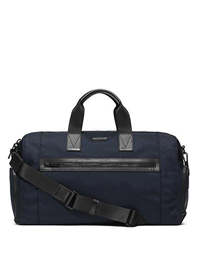 Michael Kors Parker Ballistic Nylon Gym Bag In Navy