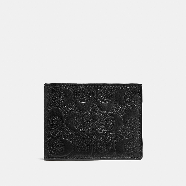 Coach 3-in-1 Wallet In Signature Leather In Black