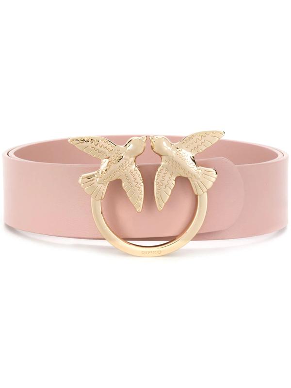 Pinko Swallow Plaque Belt In Pink