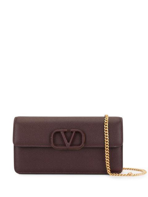 Valentino Garavani Garavani Leather Vsling Wallet In Red