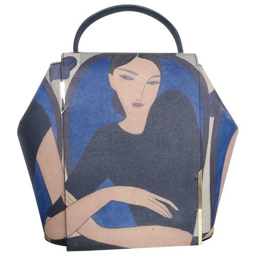 Pre-owned Onesixone Blue Leather Handbag