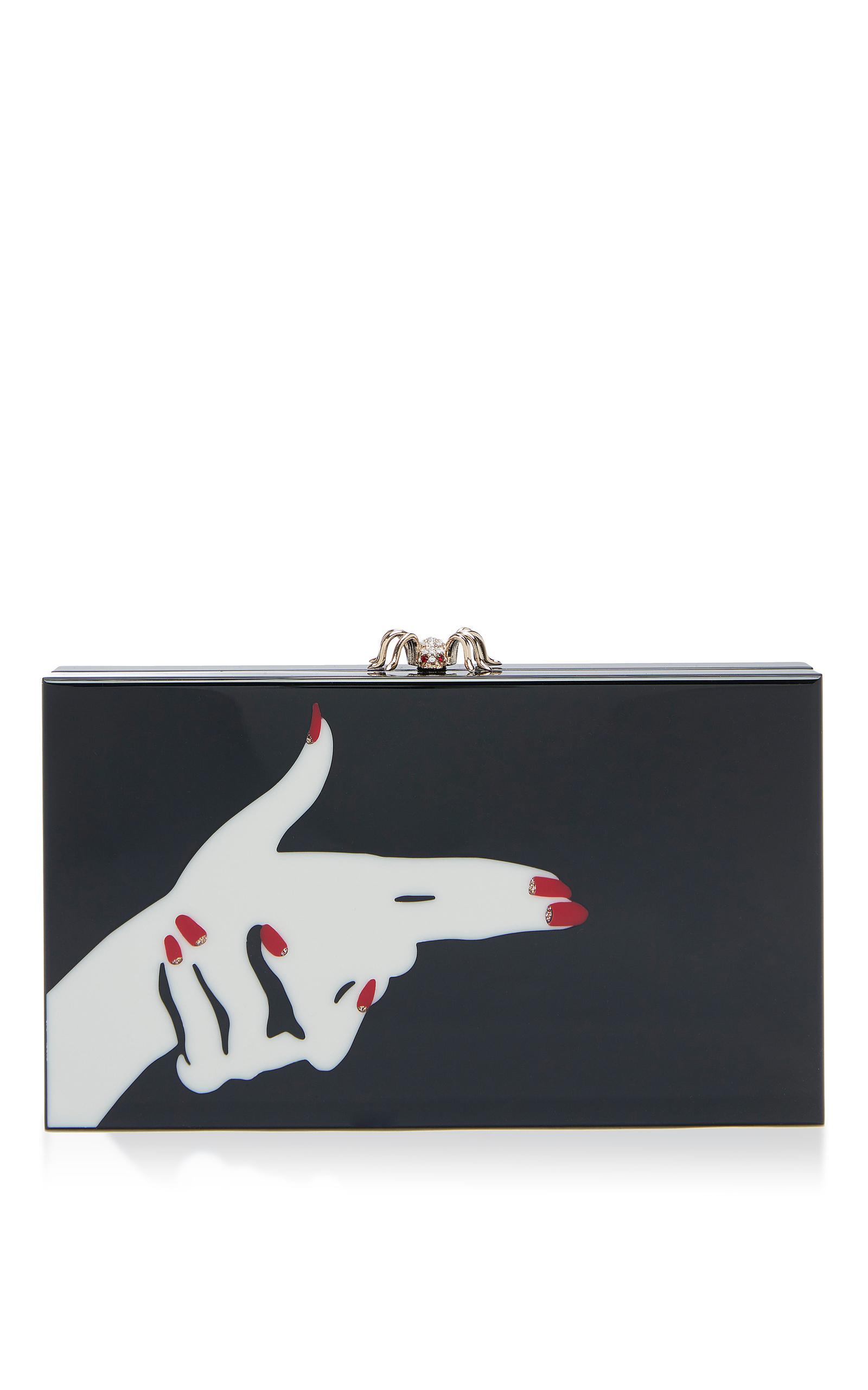 Charlotte Olympia Black Killer Pandora Box Clutch