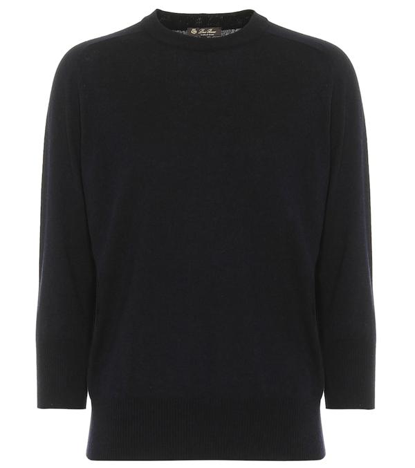 Loro Piana Piuma Cashmere Sweater In Black