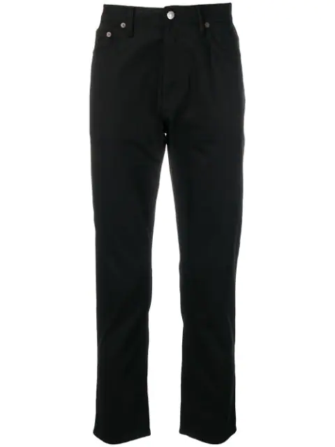 Acne Studios River Stay Cotton Stretch Jeans In Black