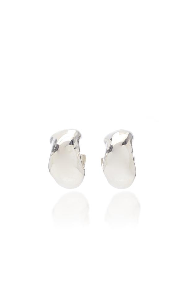 Agmes Celia Small Sterling Silver Hoop Earrings