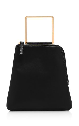 Marge Sherwood Breeze Leather Top Handle Bag In Black