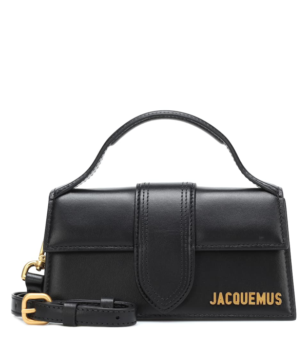Jacquemus Le Grand Bambino Leather Top Handle Bag In Black