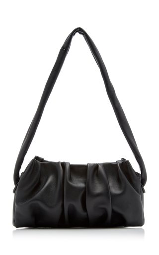 Elleme Vague Leather Shoulder Bag In Black
