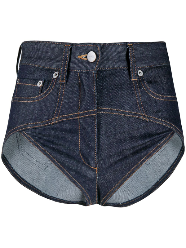 Fenty Super Mini Denim Shorts In Blue