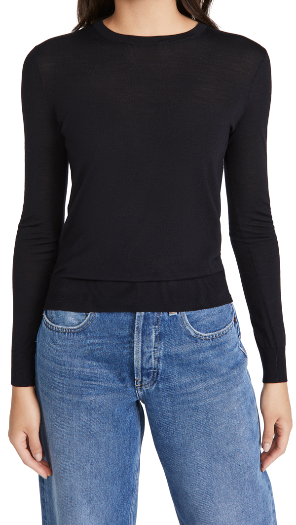 Theory Fitted Cashmere Pullover In Blue