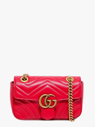 Gucci Mini Gg Marmont Shoulder Bag In Red