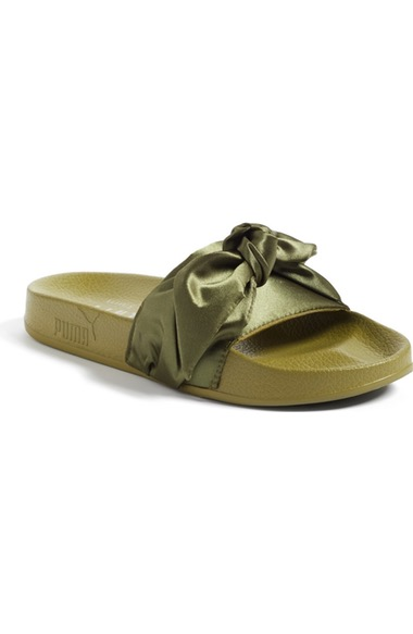 sneakers for cheap 90b3b 3d2a0 Fenty Puma By Rihanna Bow Slide in Olive Green