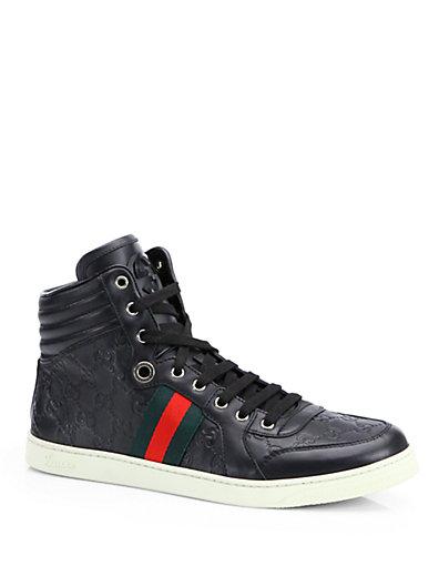 Gucci Sima High-top Sneaker, Black, Uk 10