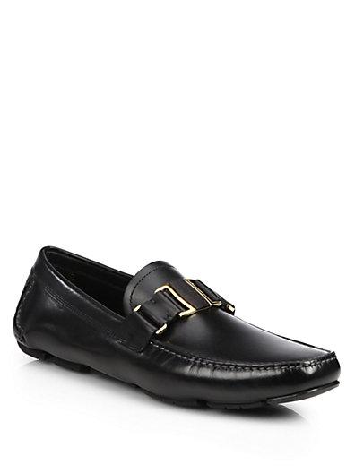 Salvatore Ferragamo Black Leaher Sardegna 11 Sneakers