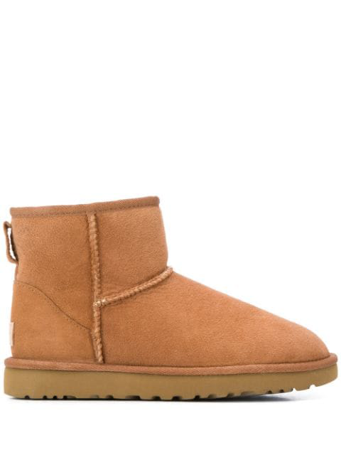 Ugg Women's Classic Heritage Mini Ii Sheepskin-lined Suede Boots In Brown